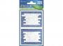 z59596 - naklejki Avery Zweckform Z-Design 59596 na zeszyty i książki - niebieski mur, 2x1, 20 ark./10 blistrów