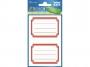 z59686 - naklejki Avery Zweckform Z-Design 59686 na zeszyty i książki - czerwone ramki, 2x1, 60 ark./10 blistrów
