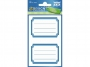 z59687 - naklejki Avery Zweckform Z-Design 59687 na zeszyty i książki - niebieskie ramki, 2x1, 60 ark./10 blistrów
