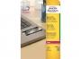 z6008p - etykiety samoprzylepne znamionowe Avery Zweckform 6008 25,4x10 mm, ark. A4 7x27, srebrne poliestrowe, Laser, 20 ark./op.