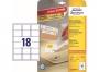 z6025p - etykiety samoprzylepne usuwalne białe Avery Zweckform 6025 Stick&Lift 63,5x46,6 mm, ark. A4 3x6, ILK 25+5 ark./op.