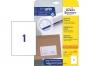 z6119p - etykiety samoprzylepne uniwersalne białe Avery Zweckform 6119 papierowe 210x297 mm, ark. A4 1x1, 25 + 5 ark./op.