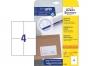 z6120p - etykiety samoprzylepne uniwersalne białe Avery Zweckform 6120 papierowe 105x148 mm, ark. A4 2x2, 25+5 ark./op.