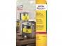 z6127 - etykiety poliestrowe wodoodporne Avery Zweckform L6127-20 99,1x139 mm żółte, 4x20, 20 ark./op.