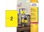 z6130 - etykiety samoprzylepne wodoodporne Avery Zweckform 6111 Heavy Duty 210x297 mm, ark. A4 1x1, żółte poliestrowe, Laser Ksero, 20 ark./op.