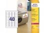 z6140p - etykiety samoprzylepne specjalistyczne białe Avery Zweckform 6140 TripleBond, 45,7x25,4 mm, A4 4x10, Laser Ksero, 20 ark./op.