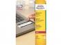 z6146p - etykiety samoprzylepne specjalistyczne białe Avery Zweckform 6146 NoPeel, 63,5x33,9 mm, A4 3x8, Laser, 20 ark./op.