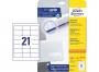 z6170p - etykiety samoprzylepne uniwersalne białe Avery Zweckform 6170 papierowe 64x36 mm, ark. A4 3x7, 25+5 ark./op.