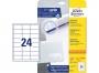 z6172p - etykiety samoprzylepne uniwersalne białe Avery Zweckform 6172, papierowe 64,6x33,8 mm, ark. A4, 25+5 ark./op.