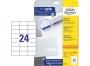 z6173p - etykiety samoprzylepne uniwersalne białe Avery Zweckform 6173 papierowe 70x37 mm, ark. A4, 25+5 ark./op.