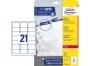 z7160o - etykiety adresowe samoprzylepne białe Avery Zweckform 7160 63,5x38,1 mm, ark. A4 3x7, ILK, 40 ark./op.