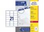 z7160p - etykiety adresowe samoprzylepne białe Avery Zweckform 7160 63,5x38,1 mm, ark. A4 3x7, ILK, 100 ark./op.