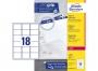 z7161p - etykiety adresowe samoprzylepne białe Avery Zweckform 7161 63,5x46,6 mm, ark. A4 3x6, ILK, 100 ark./op.