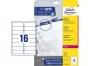 z7162o - etykiety adresowe samoprzylepne białe Avery Zweckform 7162 99,1x33,9 mm, ark. A4 2x8, ILK, 40 ark./op.
