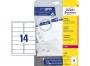 z7163o - etykiety adresowe samoprzylepne białe Avery Zweckform 7163 99,1x38,1 mm, ark. A4 2x7, ILK, 40 ark./op.