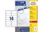 z7163pp - etykiety adresowe samoprzylepne białe Avery Zweckform 7163 99,1x38,1 mm, ark. A4 2x7, ILK, 250 ark./op.