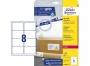 z7165o - etykiety adresowe samoprzylepne białe Avery Zweckform 7165 99,1x67,7 mm, ark. A4 2x4, ILK, 40 ark./op.