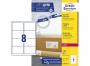 z7165p - etykiety adresowe samoprzylepne białe Avery Zweckform 7165 99,1x67,7 mm, ark. A4 2x4, ILK, 100 ark./op.