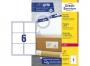 z7166p - etykiety adresowe samoprzylepne białe Avery Zweckform 7166 99,1x93,1 mm, ark. A4 2x3, ILK, 100 ark./op.