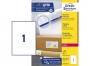 z7167p - etykiety adresowe samoprzylepne białe Avery Zweckform 7167 199,6x289,1 mm, ark. A4 1x1, ILK, 100 ark./op.