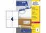 z7169p - etykiety adresowe samoprzylepne białe Avery Zweckform 7169 99,1x139 mm, ark. A4 2x2, ILK, 100 ark./op.