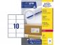 z7173b - etykiety adresowe samoprzylepne białe Avery Zweckform L7173B 99,1x57 mm, ark. A4 2x5, ILK, 100 ark./op.