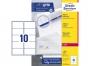 z7173p - etykiety adresowe samoprzylepne białe Avery Zweckform 7173 99,1x57 mm, ark. A4 2x5, ILK, 100 ark./op.
