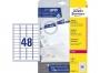 z7636p - etykiety mini samoprzylepne Avery Zweckform 7636 45,7x21,2 mm, ark. A4 4x12, białe, ILK, 25 ark./op.