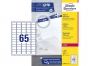 z7651p - etykiety mini samoprzylepne Avery Zweckform 7651 38,1x21,2 mm, ark. A4 5x13, białe, ILK, 100 ark./op.