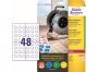 z7803 - etykiety samoprzylepne okrągłe Avery Zweckform 7803, kółka 20 mm, białe, 10 ark./op.