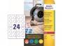 z7804 - etykiety samoprzylepne okrągłe Avery Zweckform 7804, kółka 30 mm, białe, 10 ark./op.