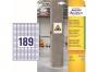 z7871 - etykiety samoprzylepne do trudnych powierzchni Avery Zweckform 7871 papierowe 25,4 x 10 mm, ark. A4, 20 ark./op.
