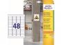 z7873 - etykiety samoprzylepne do trudnych powierzchni Avery Zweckform 7873 papierowe 45,7 x 21,2 mm, ark. A4, 20 ark./op.