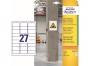 z7874 - etykiety samoprzylepne do trudnych powierzchni Avery Zweckform 7874 papierowe 63,5 x 29,6 mm, ark. A4, 20 ark./op.