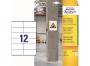 z7875 - etykiety samoprzylepne do trudnych powierzchni Avery Zweckform 7875 papierowe 105 x 48 mm, ark. A4, 20 ark./op.