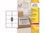 z7993o - etykiety adresowe samoprzylepne białe poliestrowe Laser Avery Zweckform L7993 99,1x67,7 mm, ark. A4 2x4, 25 ark./op.