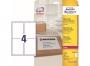 z7994o - etykiety adresowe samoprzylepne białe poliestrowe Laser Avery Zweckform L7994 99,1x139 mm, ark. A4 2x2, 25 ark./op.