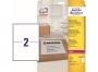 z7996o - etykiety adresowe samoprzylepne białe poliestrowe Laser Avery Zweckform L7996 199,6x143,5 mm, ark. A4 1x2, 25 ark./op.