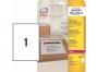 z7997o - etykiety adresowe samoprzylepne białe poliestrowe Laser Avery Zweckform L7997 199,6x289,1 mm, ark. A4 1x1, 25 ark./op.