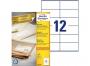 zr3424p - etykiety samoprzylepne uniwersalne białe recyklingowe Avery Zweckform 3424 papierowe 105x48 mm, ark. A4 2x6, 100 ark./op.