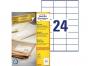 zr3475p - etykiety samoprzylepne uniwersalne białe recyklingowe Avery Zweckform 3475 papierowe 70x36 mm, ark. A4 3x8, 100 ark./op.