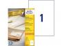 zr3478p - etykiety samoprzylepne uniwersalne białe recyklingowe Avery Zweckform 3478 papierowe 210x297 mm, ark. A4 1x1, 100 ark./op.