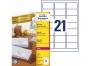 zr7160p - etykiety adresowe samoprzylepne recyklingowane białe Avery Zweckform 7160 63,5x38,1 mm, ark. A4 3x7, ILK, 100 ark./op.