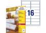 zr7162p - etykiety adresowe samoprzylepne recyklingowane białe Avery Zweckform 7162 99,1x33,9 mm, ark. A4 2x8, ILK, 100 ark./op.