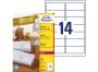 zr7163p - etykiety adresowe samoprzylepne recyklingowane białe Avery Zweckform 7163 99,1x38,1 mm, ark. A4 2x7, ILK, 100 ark./op.