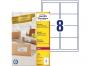 zr7165p - etykiety adresowe samoprzylepne recyklingowane białe Avery Zweckform 7165 99,1x67,7 mm, ark. A4 2x4, ILK, 100 ark./op.