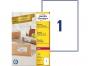 zr7167p - etykiety adresowe samoprzylepne recyklingowane białe Avery Zweckform 7167 199,6x289,1 mm, ark. A4 1x1, ILK, 100 ark./op.