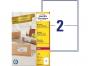 zr7168p - etykiety adresowe samoprzylepne recyklingowane białe Avery Zweckform 7168 199,6x143,5 mm, ark. A4 1x2, ILK, 100 ark./op.